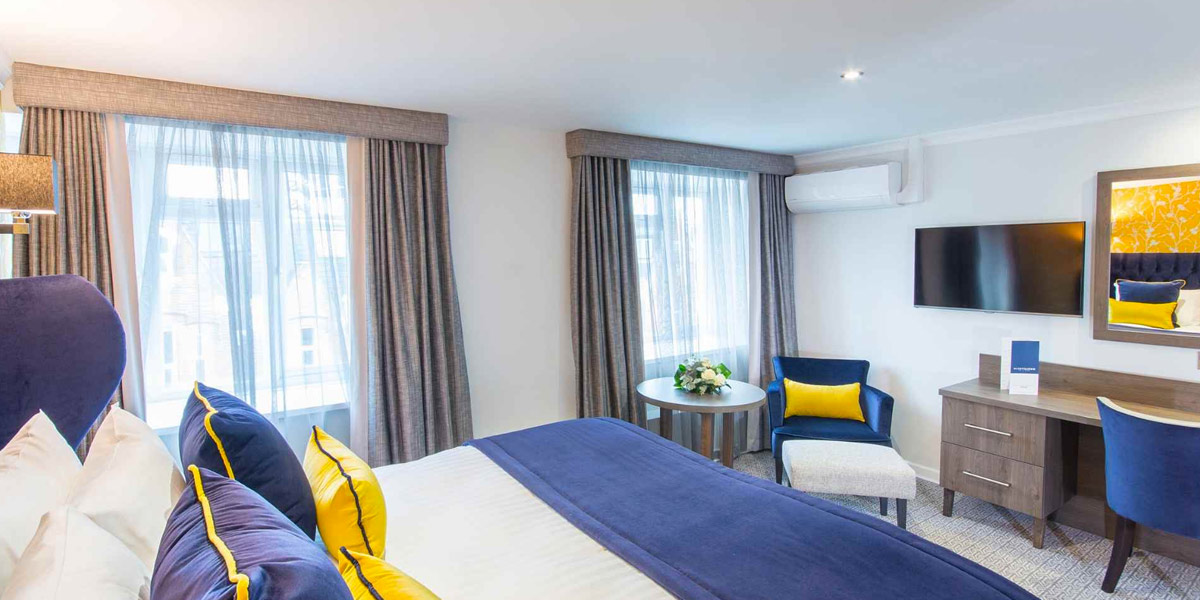 Guestrooms at the Durly Dean Hotel